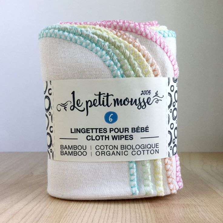 Baby Cloth Wipes made with bamboo and organic cotton. www.lepetitmousse.com