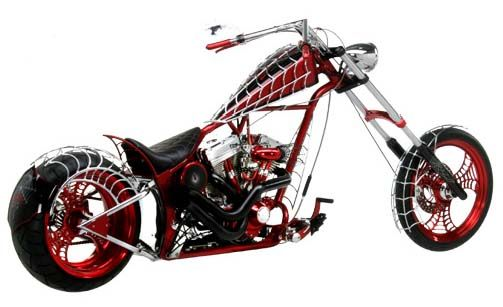 black with red paint jobs on motorcycles | Top 10 Orange County Choppers Bikes | The Lowdown Blog