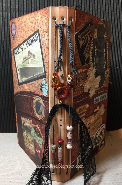 Hello Blog land, Karen Bearse here today with a fabulous tutorial on how to create a Midori style travel journal using lots of 7gypsies paper, ephemera and with some of the new Architextures release. If you haven't seen this product line it is a must have!!! I was honored to have this project at the Canvas Corp Brands (CCB) booth at Creativation2017. Supply List: 7gypsies Paper - Wanderlust,...