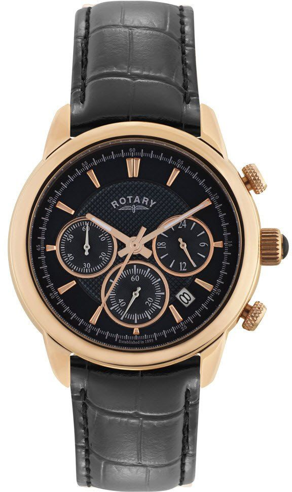 Rotary Watch Gents Gold Plated Strap #add-content #bezel-fixed #bracelet-strap-leather #brand-rotary #case-depth-11mm #case-material-rose-gold #case-width-40mm #chronograph-yes #classic #date-yes #delivery-timescale-1-2-weeks #dial-colour-black #gender-mens #movement-quartz-battery #official-stockist-for-rotary-watches #packaging-rotary-watch-packaging #style-dress #subcat-rotary-core-mens #supplier-model-no-gs02879-04 #warranty-rotary-official-lifetime-guarantee #water-resistant-waterproof