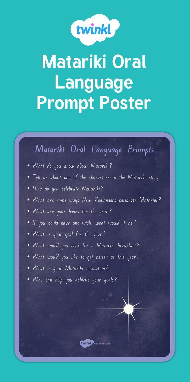 Oral Language prompts for Matariki