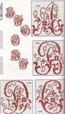 Beautiful Russian alphabet and a little monograms. / Embroidery / Cross Stitch Schemes