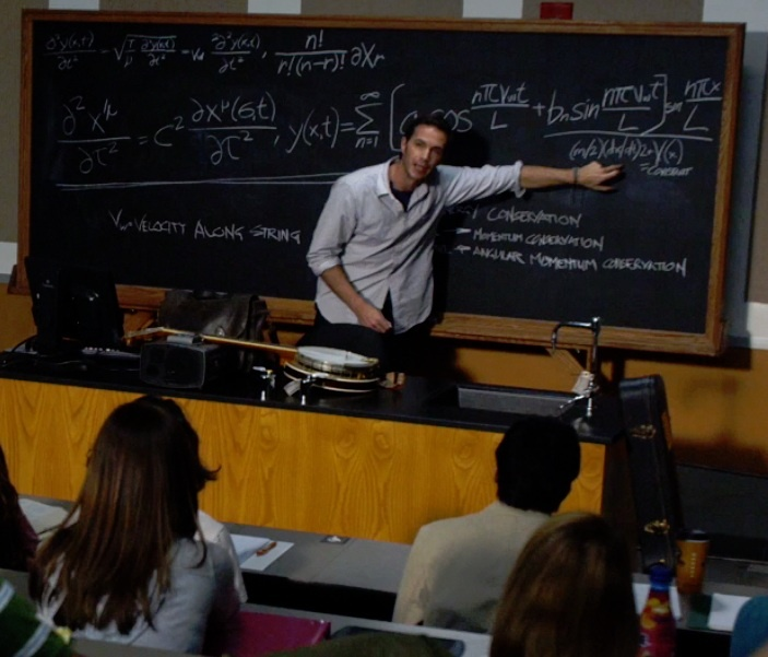 Tom is a visiting astrophysicist professor giving a lecture at Columbia.