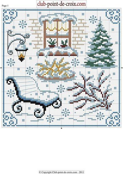 Xmas. Cross-stitching pattern