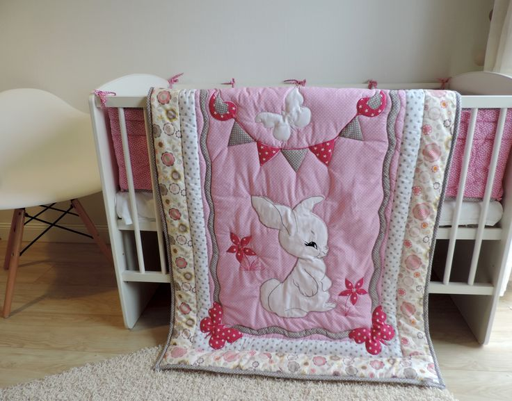 This lovely crib bedding set is perfect for your little baby girl and will make your little baby girl's dreams even sweeter. It is so cozy and lovable that your baby will adore it.  Order here: https://www.etsy.com/listing/498843635/nursery-bedding-set-girl-crib-bedding?ref=listing-shop-header-3