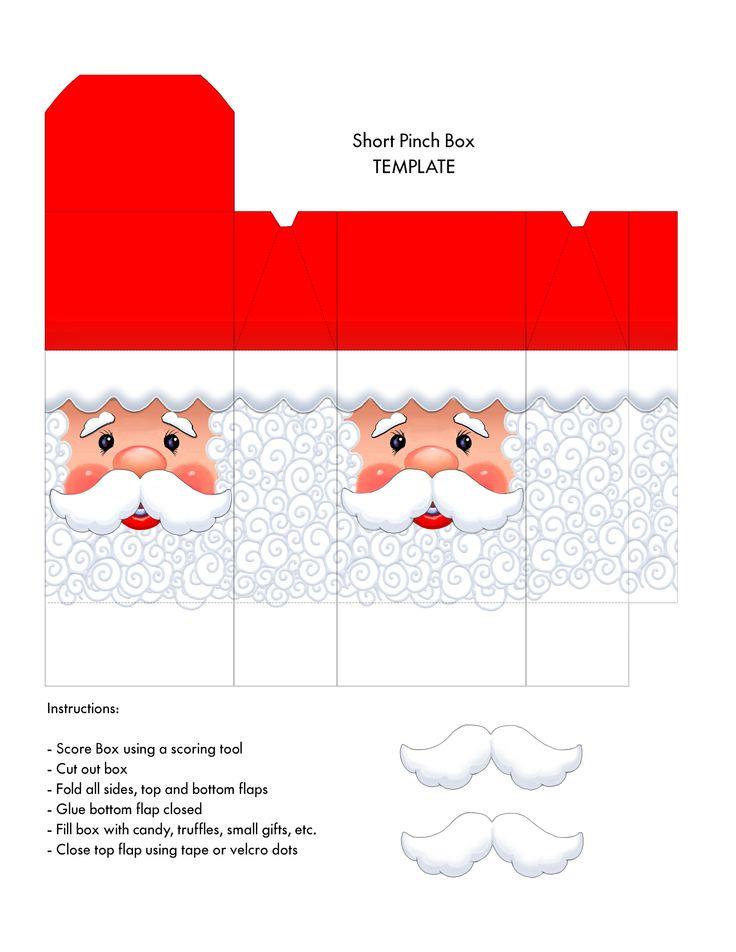 Santa face box - short