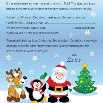 FREE Printable Letters From Santa and his friends.. and a few others :)
