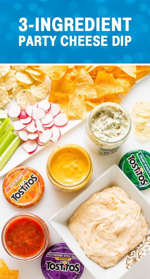 Sponsored by Frito-Lay | Effortless entertaining is always a must for summer. Check out this recipe for Easy Party Cheese Dip to create the base for a delicious appetizer idea. Plus, we love that this dish can be layered with Tostitos Restaurant Style Salsa, Tostitos Salsa con Queso, or Tostitos Creamy Spinach Dip for even more flavor! Grab the Tostitos Chipotle Thins or tortilla chips from Frito-Lay® to complete this mouthwatering yet simple party menu.