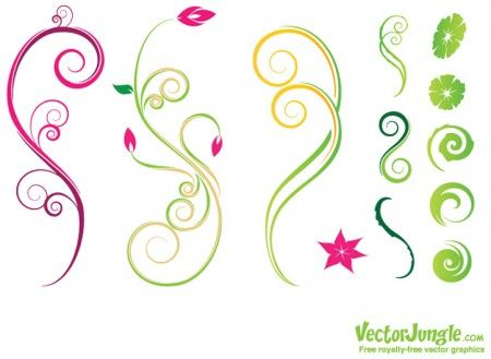 I am terrible at drawing swirly, leafy vector designs. I love finding free cute ones.