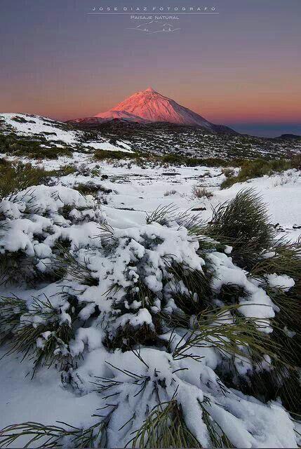 El Teide. Tenerife Schnee ist dort selten ..