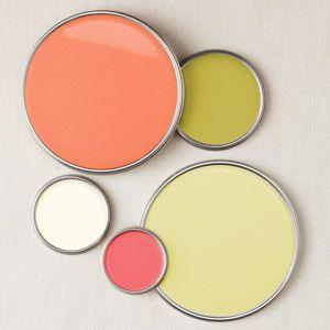Juicy Citrus BHG.comColors Combos, Color Palettes, Color Schemes, Girls Room, Colors Palettes, Colors Schemes, Benjamin Moore, Accent Furniture, Accent Wall