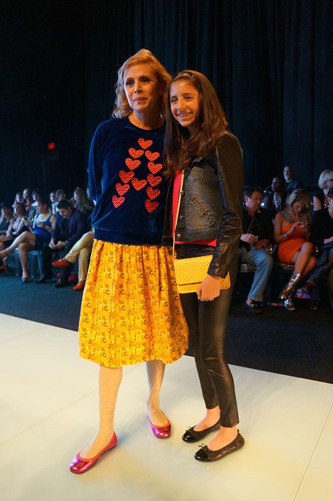 El diario de maria leon miami fashion week..  In the Picture Agatha Ruiz de la Prada with my daughter Sofía wearing a yellow bag from our new kids collection. #AgathaRuizdelaPrada #CustoBarcelona #JLANG #Vogue #MIAFW14 #MariaLeonStyle @Maríaleonstyle