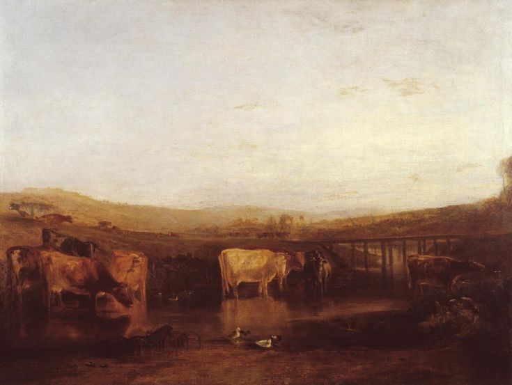 Joseph Mallord William Turner 'Union of the Thames and Isis ('Dorchester Mead, Oxfordshire')', exhibited 1808