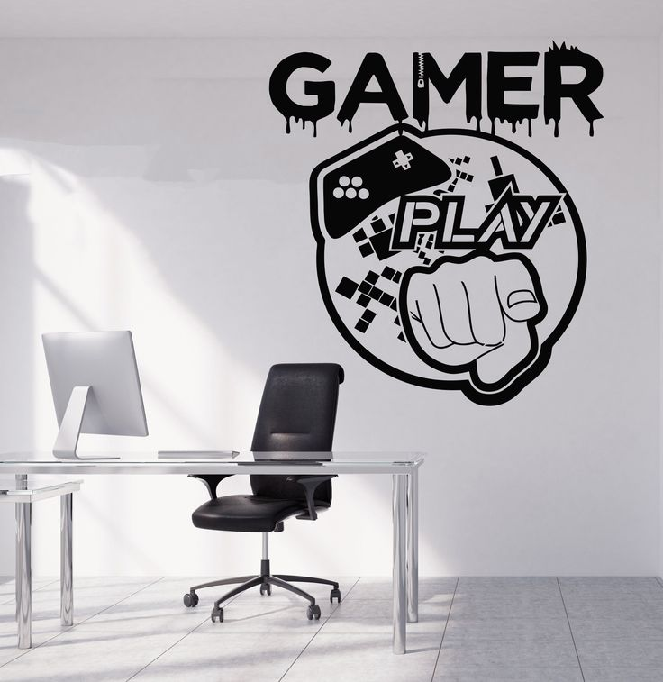 Gamer Wall Decal Gamer Decals Controller Decals Personalized Gamer Room 3059
