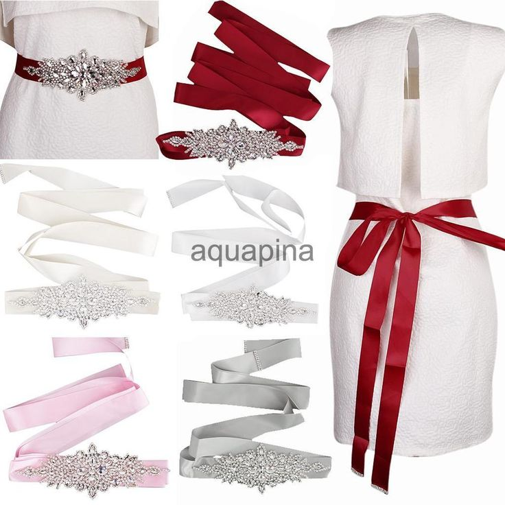 Crystal Rhinestone Waistband Belt Wedding Bridal Dress Sash Prom Belt #Unbranded