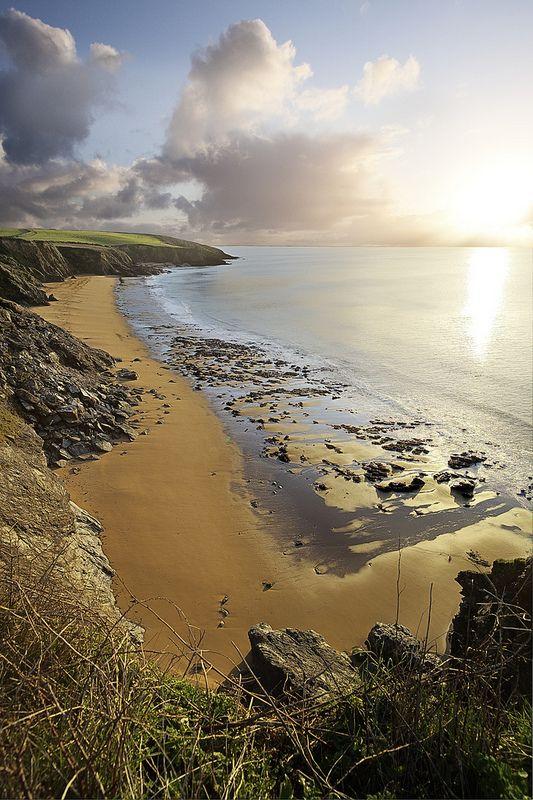 Porthbear beach the Roseland Cornwall.