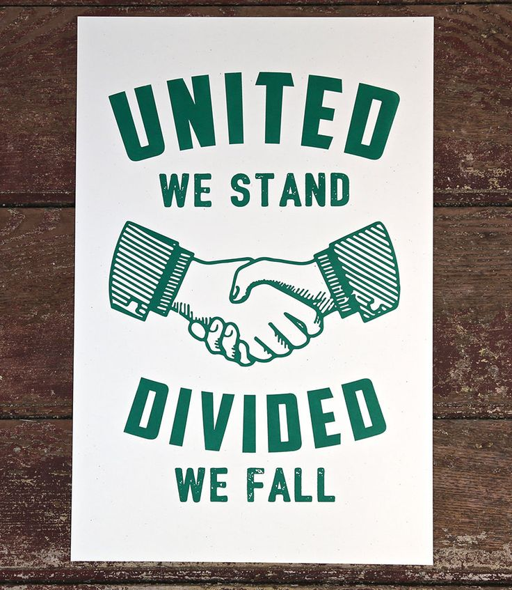 United We Stand, Divided We Fall Print Green | Kentucky for Kentucky