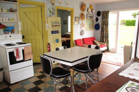 Pohutukawa Cottage-'HUTU', oh so RETRO kiwi bach in Kawhia, Otorohanga District | Bookabach