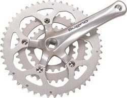 Sugino XD600 175mm 26-36-46 74/110 7/8-Speed Crankset; Bottom Bracket Not Included