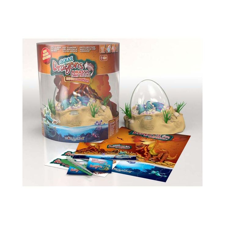 "Hatch and grow your very own aquatic pets: Jurassic Aqua Dragons!  ""Aqua Dragons have been living in the sea and in salty lakes on the earth for millions of years including while dinosaurs roamed the Earth!"""