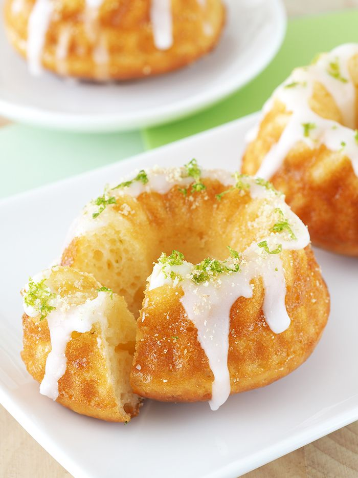 key lime pie bundt cake (fat free cream cheese, lime zest, lime juice, egg whites, cornstarch, confectioners sugar for glaze)
