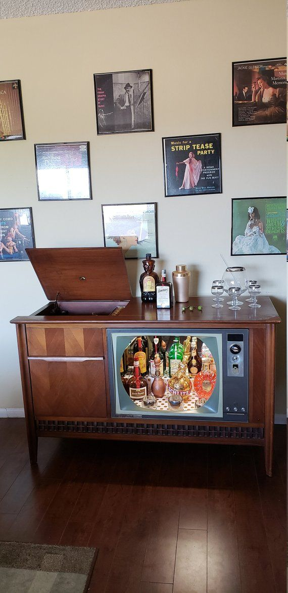 Vintage 1960 S Rca Record Player Tv Bar Etsy Record Player Old Record Player Records