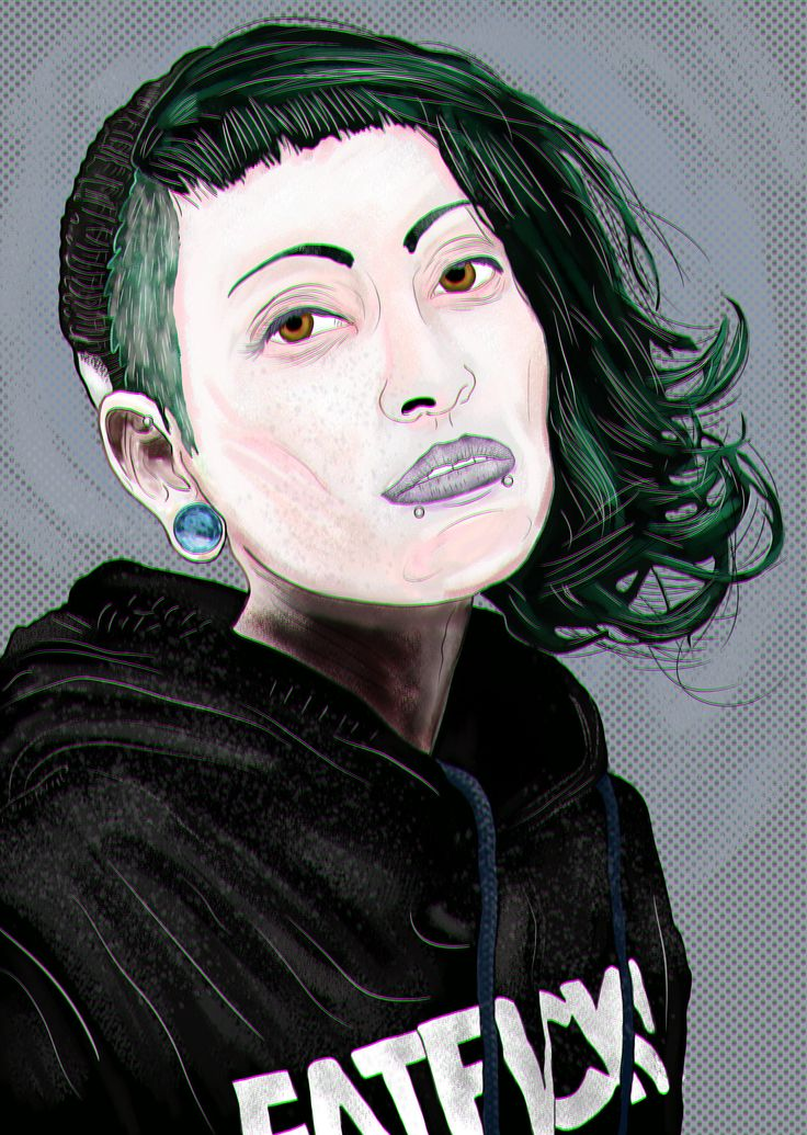 https://flic.kr/p/GcvhjM   Michelle   With chromatic aberration effect · Practice drawing trace ∼ Medibang Paint
