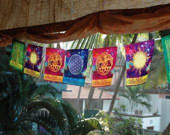 MUDRAS prayer flags Healing Spiritual Yoga Reiki Meditation