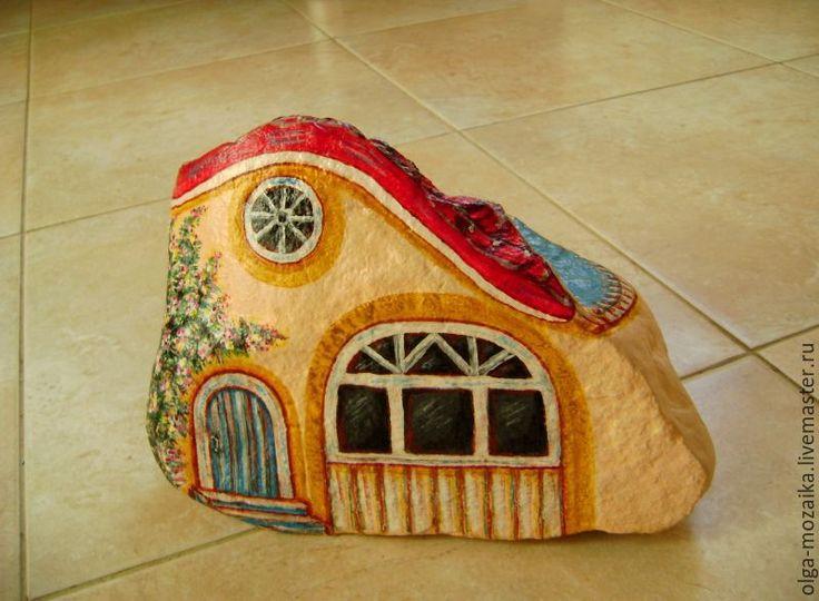 Купить Домик большой садовый с басейном (БРОНЬ) - бежевый, домик, бассейн, садовый декор, природный камень