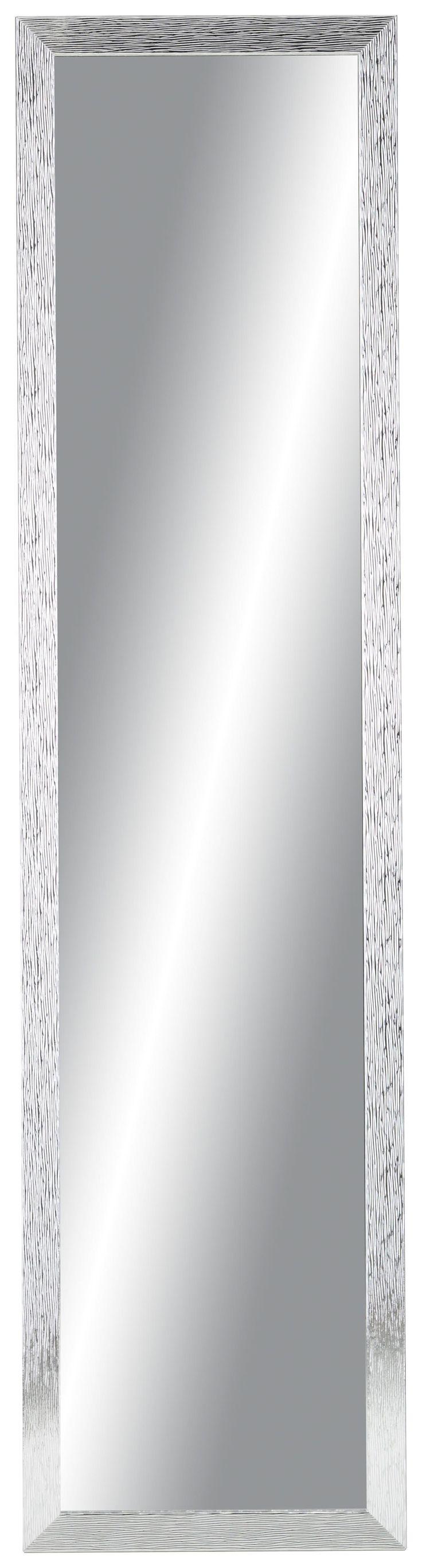 Dieser tolle <b>Wandspiegel</b> ist eine schicke Ergänzung für Ihr Zuhause. Der ca. <b>35 x 140 cm (B x H) </b>große Spiegel mit einem ca. <b>3,5 cm breiten Rahmen</b> aus Holznachbildung in <b>Silber</b> strahlt stilvolle Eleganz aus und lässt sich waagrecht und senkrecht montieren. Ein attraktiver Blickfang der jedem Wohnraum eine ganz besondere Note verleiht.