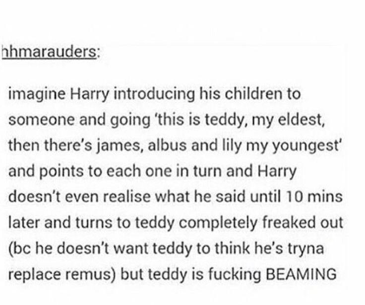 This makes me so happy. Harry had a crap childhood. He's definitely make sure another child would never go through anything like it