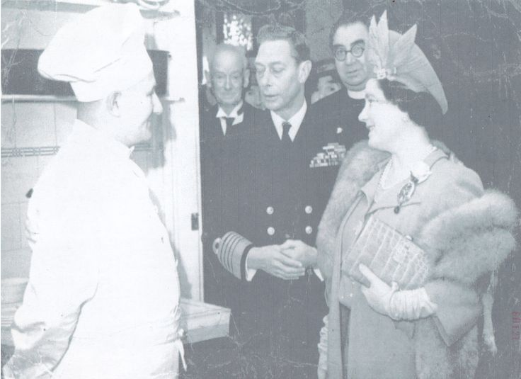 Family History Photo of the Week Winner (2 May 2014) ~ Grampy Frank meets King George VI!  http://www.wikitree.com/photo/png/Evans-6328  #wikitree #genealogy