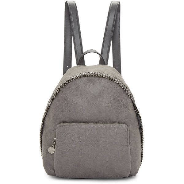 Stella McCartney Grey Small Falabella Shaggy Deer Backpack ($1,155) ❤ liked on Polyvore featuring bags, backpacks, grey, grey bag, zip handle bags, stella mccartney bags, zipper bag and grey backpack