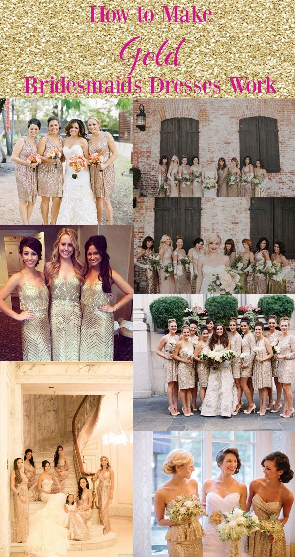 How to make gold bridesmaids dresses work for your wedding party