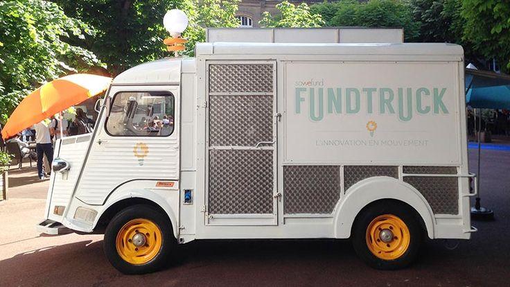 """La plateforme de financement participatif Sowefund lance le Fundtruck pour permettre aux start-up de """"pitcher"""" dans les rues de Paris (DR)"""