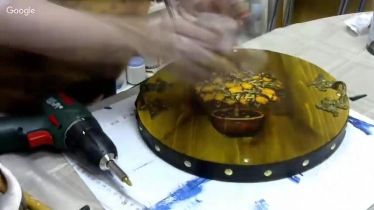 Видеозапись Марина Жукова лимонное дерево на подносе