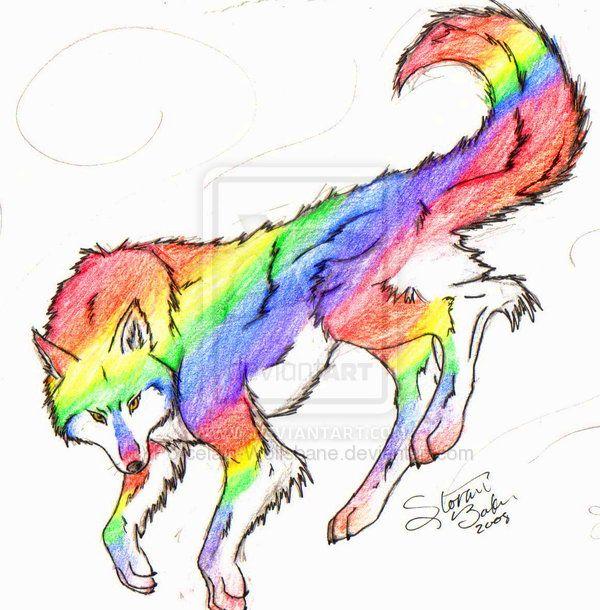 Rainbow Wolf By PrismaWolf On DeviantART