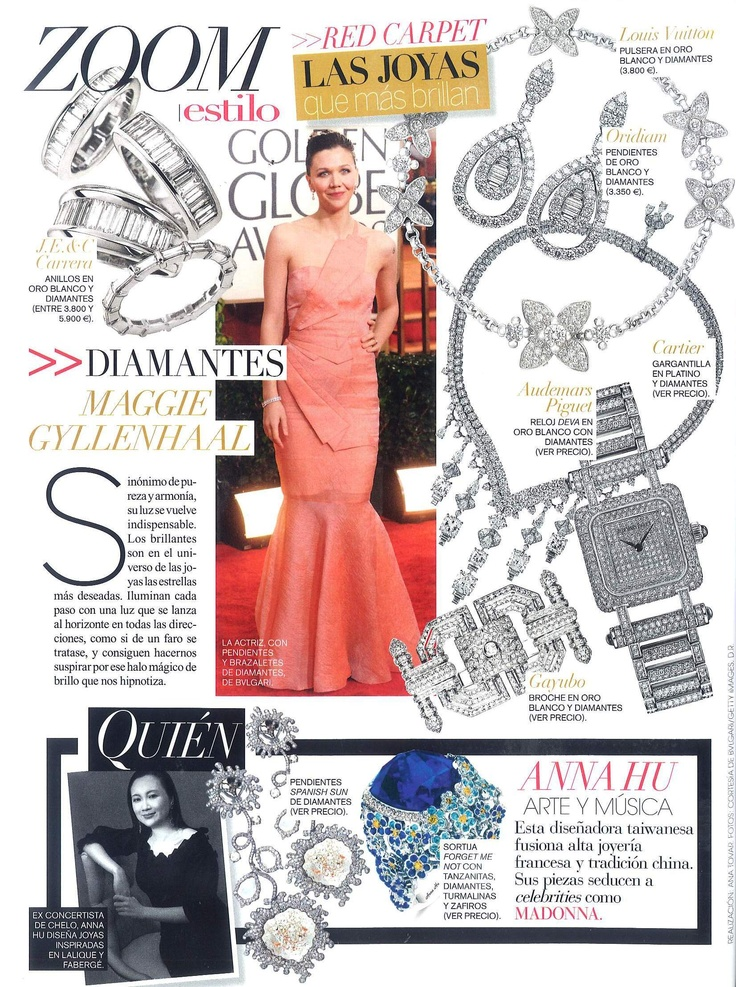 Zoom   Editorial by Vogue España   Brooch from white gold with diamonds by Gayubo