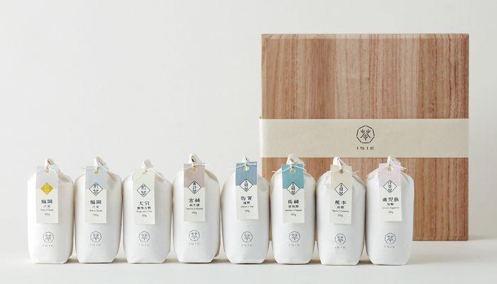こちらは九州7県に福岡 八女(冠茶)をプラスしたお茶セット。 桐箱に入っていますので贈り物にピッタリです。