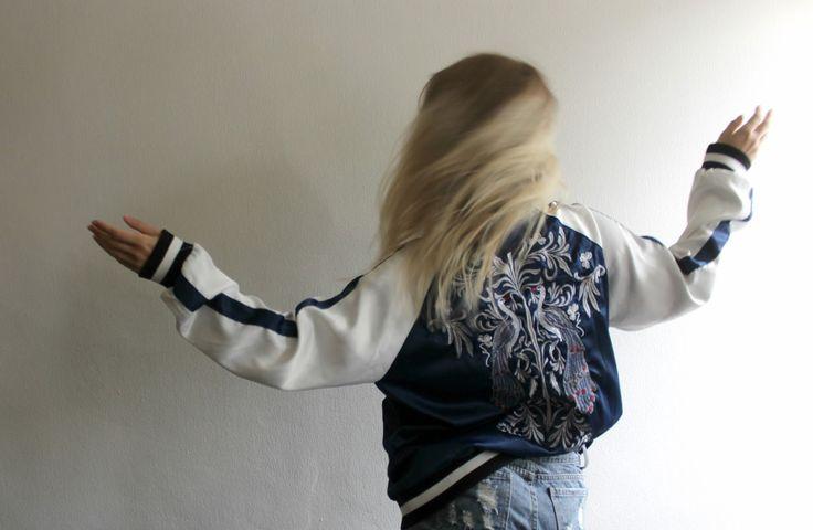 Emiily: Embroid bomber jacket