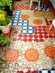 images of hand painted cement patio - Google Search