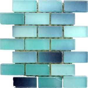 Turquoise sea glass tile