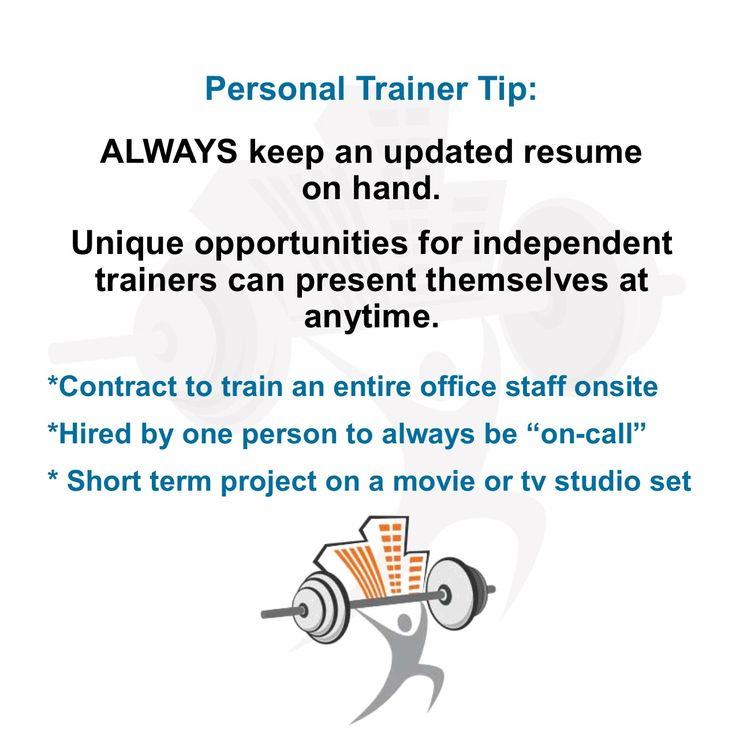 Personal Trainer Tip ALWAYS keep an updated #resume on hand - contract trainer resume