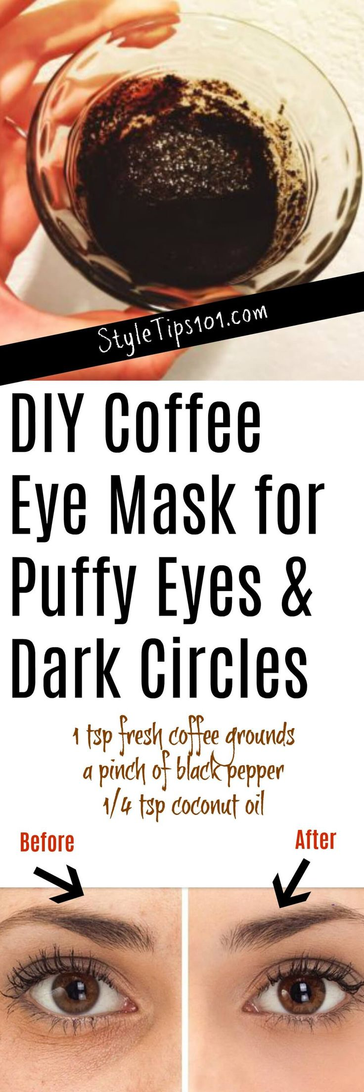 Homemade Coffee Eye Mask