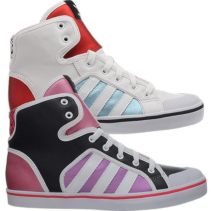Adidas Honey Hoop white or black Women's high-top-sneakers casual shoes NEW   #adidas #HiTopTrainerBoots