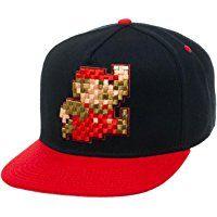 Nintendo Pixel Mario Red Snapback Hat