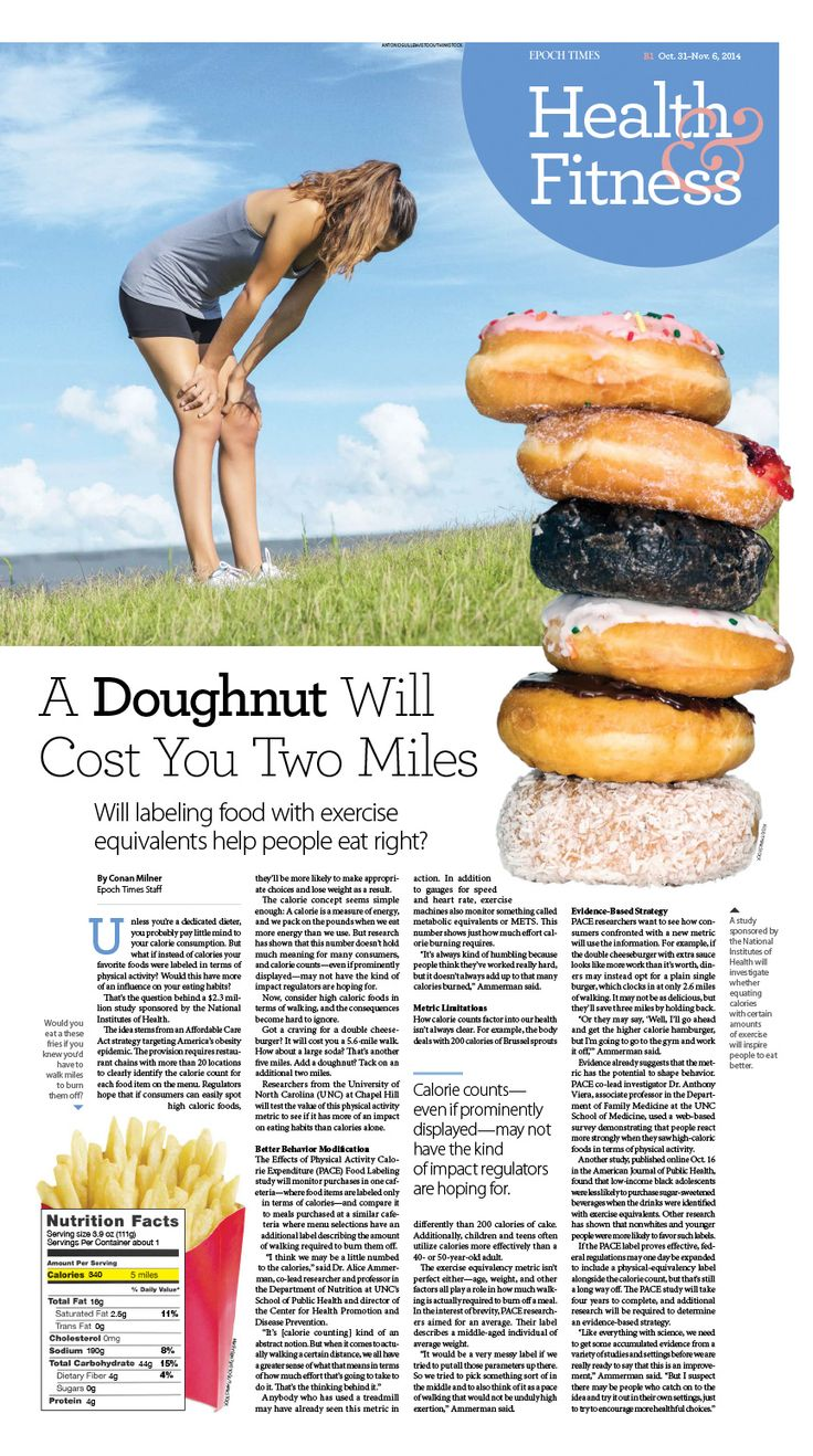 A Doughnut Will Cost You Two Miles|Epoch Times #Fitness #newspaper