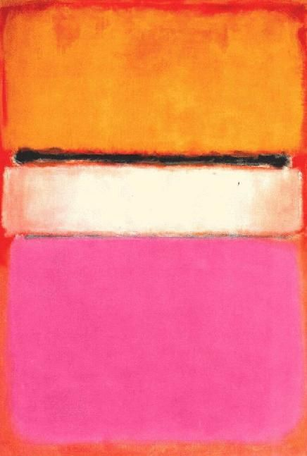Mark Rothko, White Center, 1950.  reminds me of the summer i doted on pink and orange together