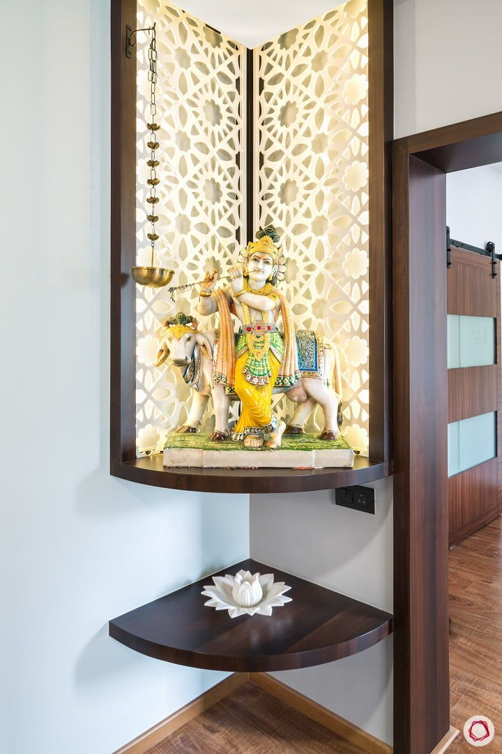11 Wall Mandir Design Ideas That Are Perfect For Indian Homes Temple Design For Home Pooja Room Door Design Pooja Room Design