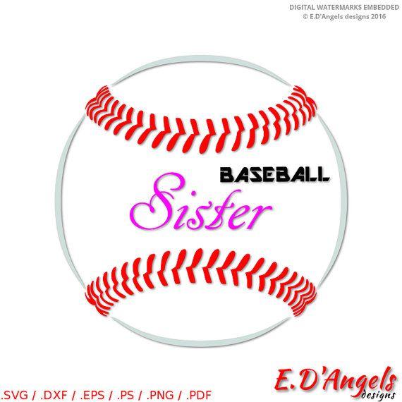 Baseball Sister svg  Baseball Sister  SVG files  Silhouette